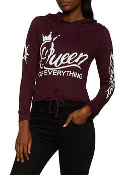 Queen of Everything Hooded Top - 3036033871758