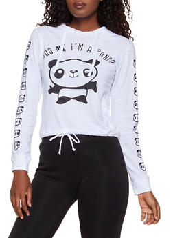 Hug Me Im A Panda Hooded Top - 3036033871801