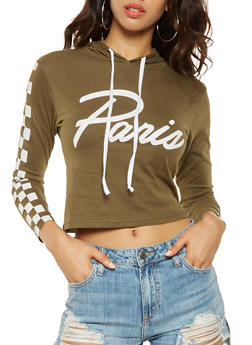 Paris Graphic Hooded Top - 3036033873601