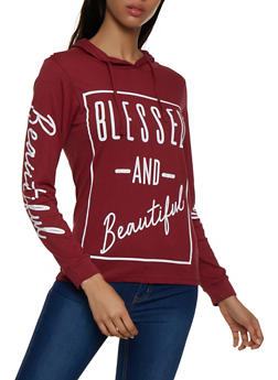 Blessed and Beautiful Hooded Tee - 3036033876566