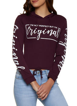 Im Not Perfect But Im Original Hooded Top - 3036033876576