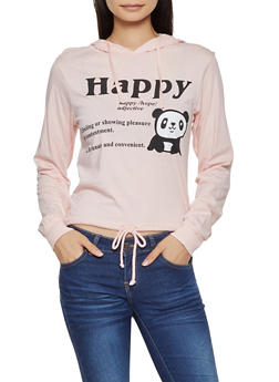 Panda Graphic Hooded Top - 3036033878156