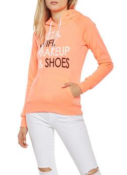 Graphic Hooded Sweatshirt - 3036038343410