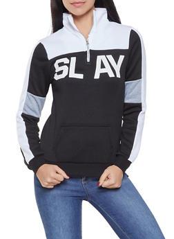 Color Block Graphic Sweatshirt - 3036038343439