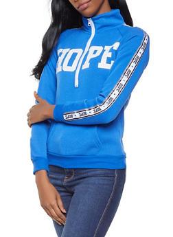 Graphic Half Zip Sweatshirt - 3036038343440