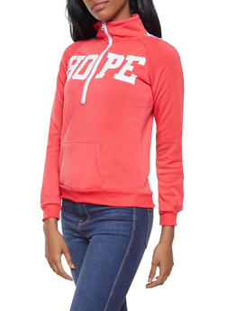 Graphic Half Zip Sweatshirt - 3036038343440