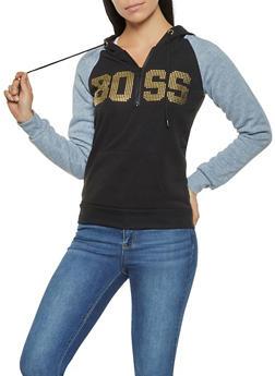 Boss Graphic Half Zip Sweatshirt - 3036038344438