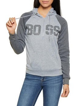 Boss Graphic Half Zip Sweatshirt - 3036038344438
