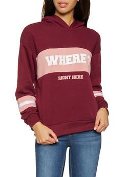 Where Graphic Color Block Sweatshirt - 3036051060021