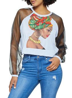 African Queen Organza Sleeve Tee - 3036074293709