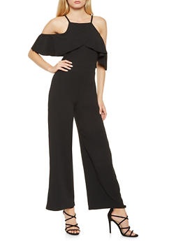 Off the Shoulder Crepe Jumpsuit - 3045061632479
