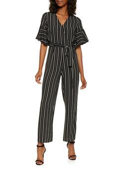 Striped Wide Leg Jumpsuit - 3045069390459