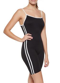 Varsity Stripe Cami Romper - 3045073379714