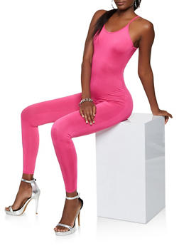 Stretch Cami Jumpsuit - NEON PINK - 3045074280165