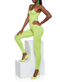 Stretch Cami Jumpsuit - NEON LIME - 3045074280165