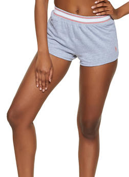 Striped Trim Dolphin Shorts - 3056035162271