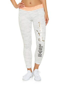 Love Graphic Marled Joggers - 3056038342871