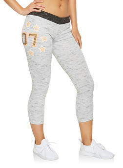 Cropped Graphic Sweatpants - 3056038342873