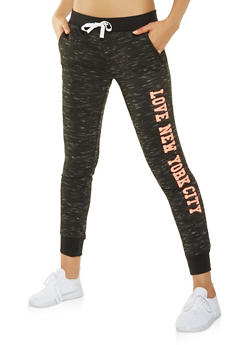 Love New York City Graphic Joggers - 3056038342875