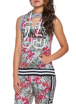 Floral Hooded Sweatshirt - 3056038346010