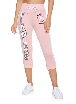 Flawless Graphic Capri Sweatpants - 3056038346041