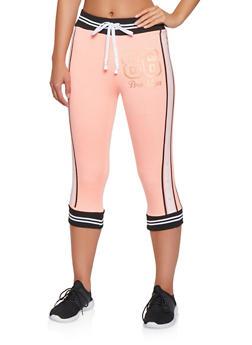 Foil Graphic Capri Sweatpants - 3056038346051