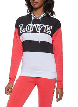 Love Graphic Tape Sweatshirt - 3056038347010