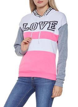 Love Graphic Tape Sweatshirt - 3056038347010
