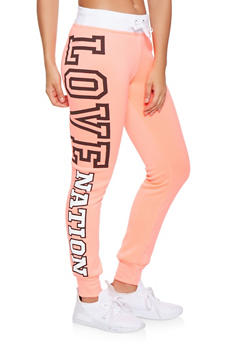 Love Nation Graphic Joggers - 3056038347031