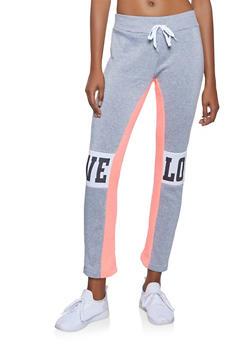 Love Graphic Sweatpants - 3056038347041
