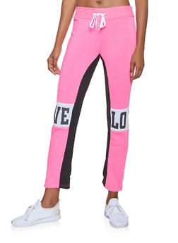 Love Graphic Sweatpants - 3056038347041