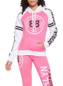 Color Block Graphic Sweatshirt - 3056038347060