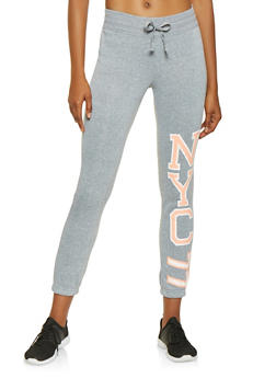 NYC Graphic Sweatpants - 3056038347101