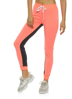 Color Block Fleece Lined Joggers | 3056038347105 - 3056038347105
