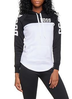 Boss Graphic Color Block Sweatshirt - 3056038347110