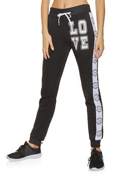 Love Graphic Joggers - 3056038347131