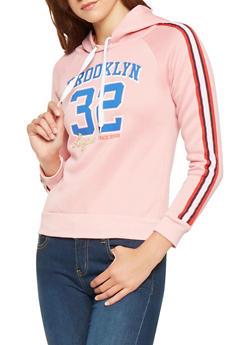 Brooklyn Graphic Hooded Pullover Sweatshirt - 3056038347152