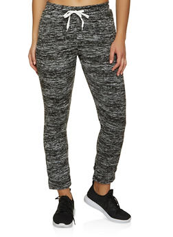 Solid Drawstring Waist Joggers - 3056038347183