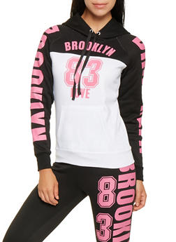 Brooklyn Graphic Color Block Sweatshirt - 3056038347190