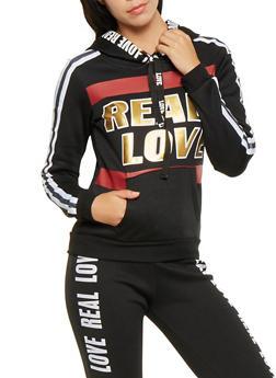 Real Love Graphic Pullover Sweatshirt - 3056038347200