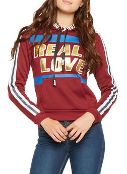 Real Love Graphic Pullover Sweatshirt - 3056038347200