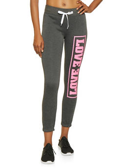 Love Graphic Sweatpants - 3056038347211