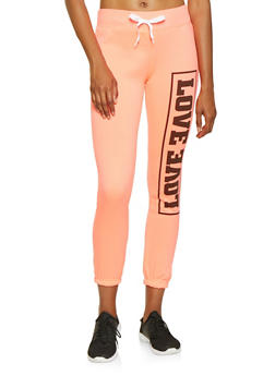 Love Graphic Sweatpants - 3056038347211