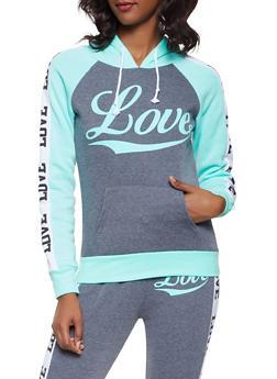 Love Graphic Activewear Sweatshirt - 3056038347260