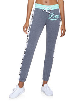 Love Graphic Activewear Sweatpants - 3056038347261