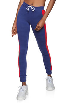 Contrast Side Joggers - 3056038347263