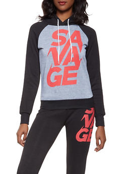 Savage Graphic Sweatshirt - 3056038347290