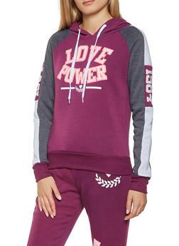 Love Graphic Hooded Sweatshirt - 3056038347310