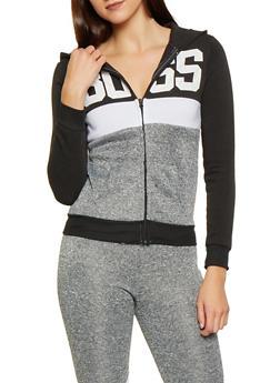 Boss Graphic Color Block Sweatshirt - 3056038347410