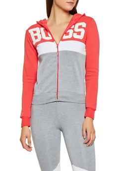 Boss Graphic Color Block Sweatshirt - 3056038347410